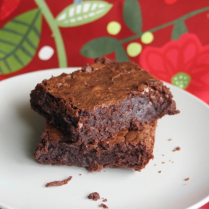 Brownies_with_floral_painted_background