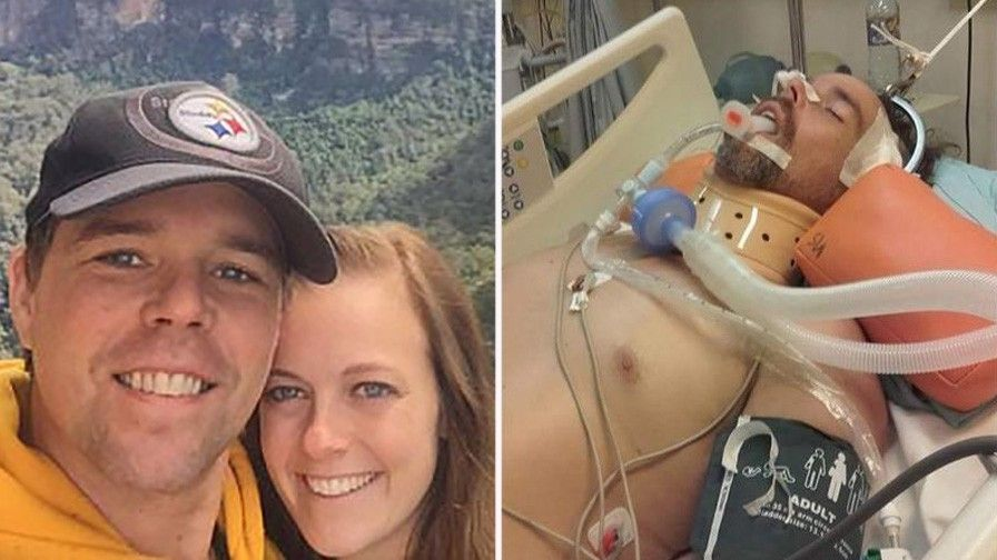American expat fights for his life after falling off roof in Bali while chasing monkey who stole his Pittsburgh Steelers cap